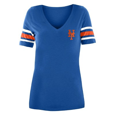 MLB New York Mets Women's Pitch Count V-Neck T-Shirt