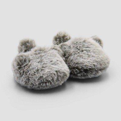 Baby Boys' Bear Constructed Bootie Slippers - Just One You® made by carter's Gray