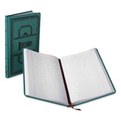 Boorum & Pease Record/Account Composition Book, Record Rule, 300 Pages, 12 1/8 x 7 5/8 - Blue