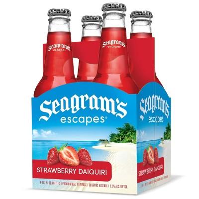 Seagrams Escapes Strawberry Daiquiri Cocktail - 4pk/11.2 fl oz Bottles