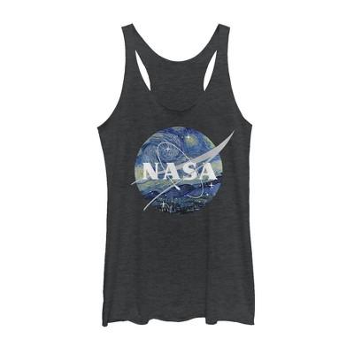 Women's NASA Starry Night Logo Racerback Tank Top