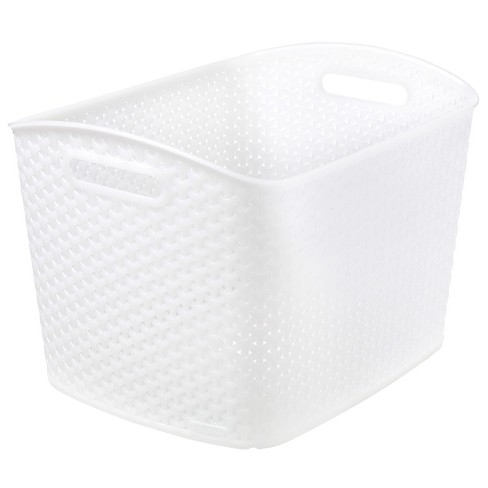 "Y Weave 11""x13"" Decorative Bin Clear - Room Essentials™ - image 1 of 1"