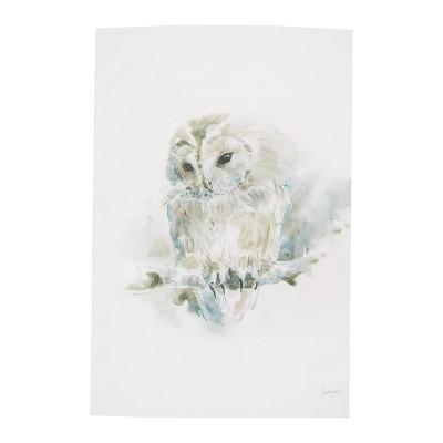 C&F Home Snow Owl Printed Flour Sack Kitchen Towel