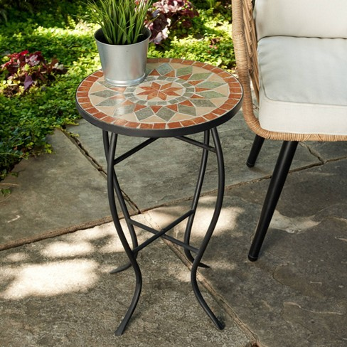 Outdoor Mosaic Accent Side Table - Haven Way - image 1 of 4