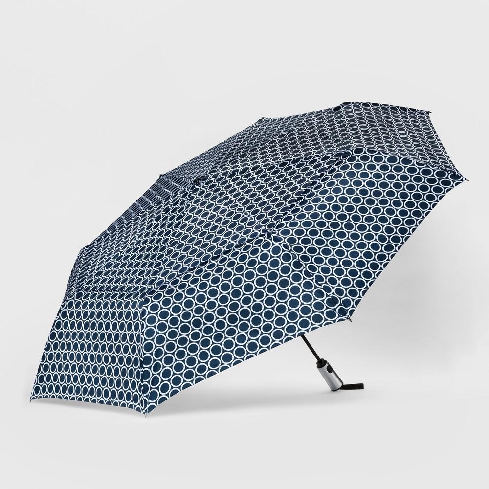 ShedRain Auto Open/Close Air Vent Compact Umbrella - Navy (Blue)