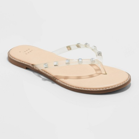 Women's Sloan Studded Flip Flop Sandals - A New Day™ - image 1 of 4