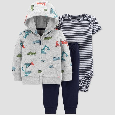 Baby Boys' Construction Top & Bottom Set - Just One You® made by carter's Gray 3M