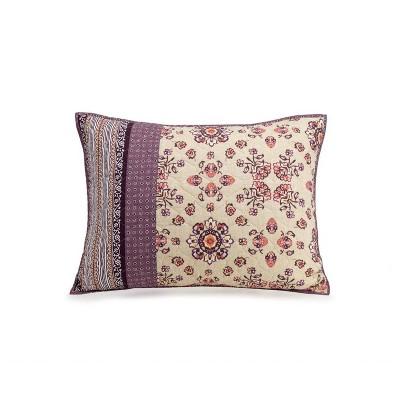 Standard Lola Sham Purple/Ivory - Jessica Simpson