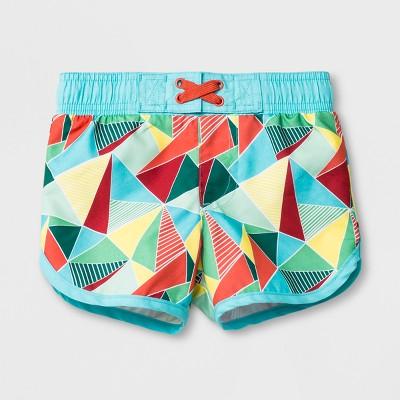 Baby Boys' Geometric Swim Trunks - Cat & Jack™ Orange 9M