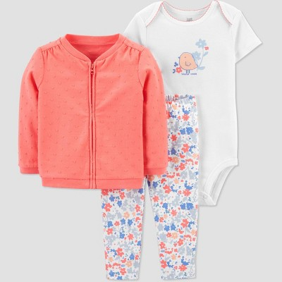Baby Girls' Chicken Top & Bottom Set - Just One You® made by carter's Coral