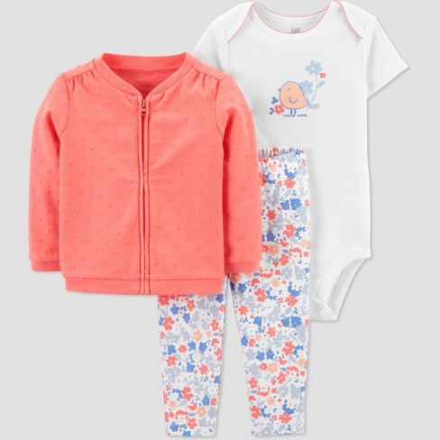 Baby Girls' Chicken Top & Bottom Set - Just One You® made by carter's Coral - image 1 of 4