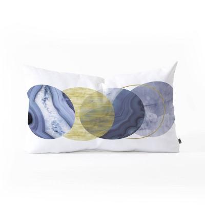 Emanuela Carratoni Moonlight Oblong Throw Pillow Blue - Deny Designs