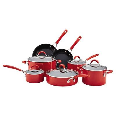 Circulon Innovatum Aluminum Nonstick 12 piece Cookware Set Red