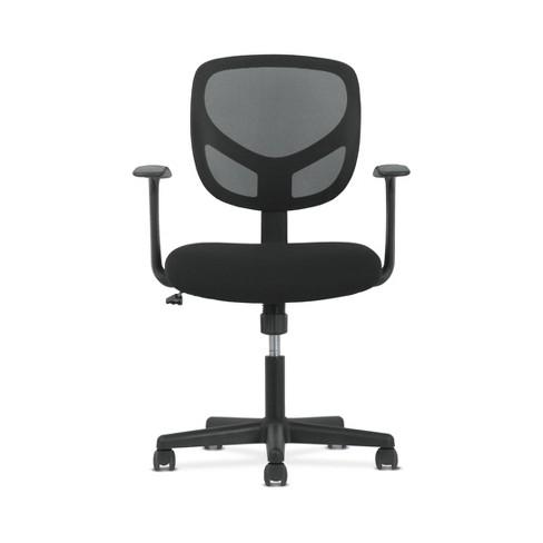 Sadie Ergonomic Swivel Mid Back Mesh Task Chair with Arms Black - HON - image 1 of 4