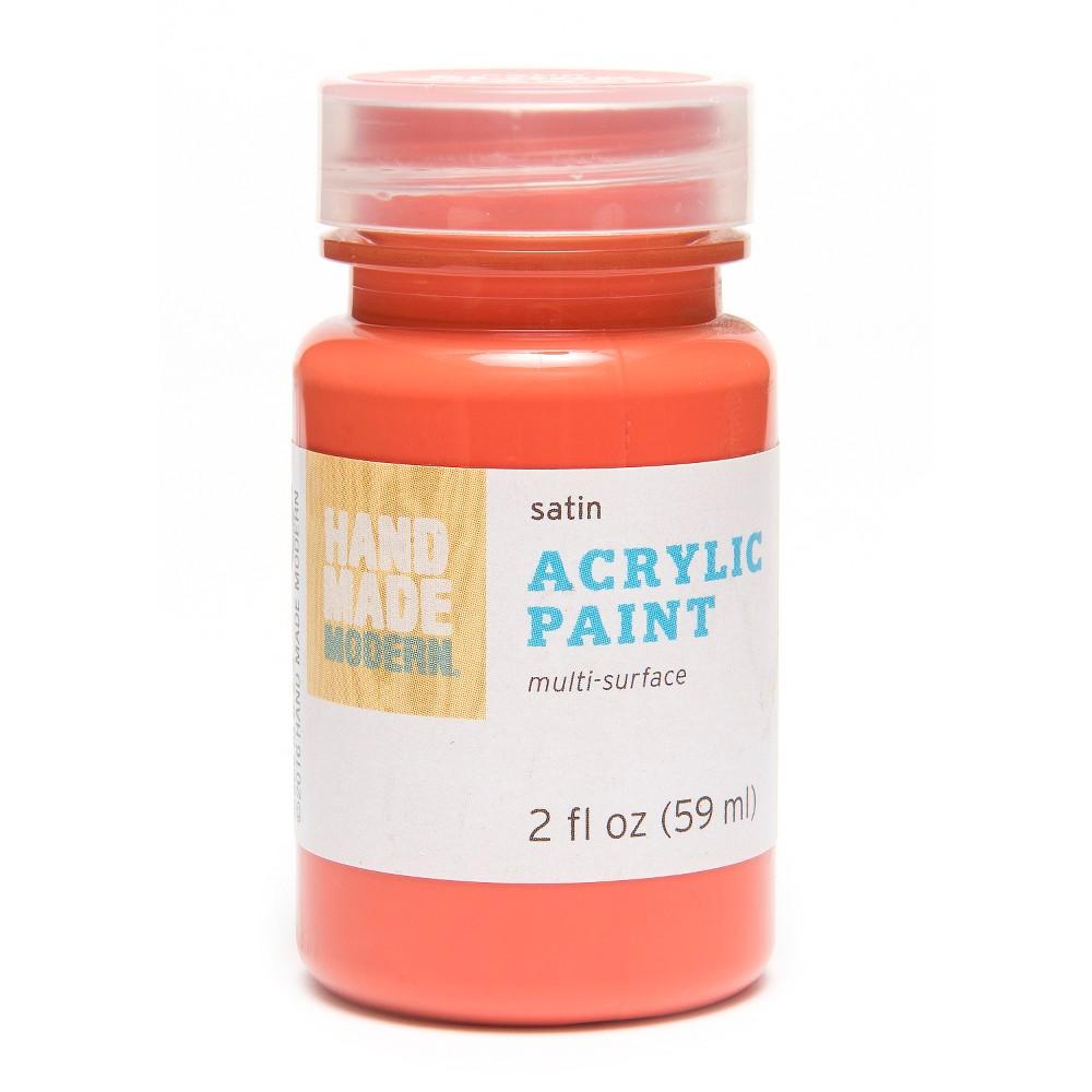 Image of 2oz Satin Acrylic Paint - Blood Orange Hand Made Modern