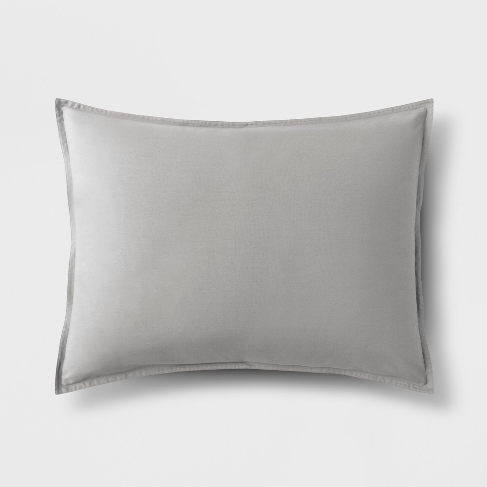 Light Gray Solid Sham (Standard) - Made By Design