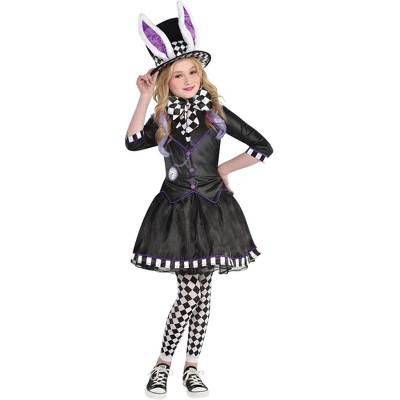 Kids' Dark Mad Hatter Girl Halloween Costume