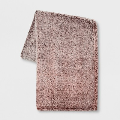 70 x50  Fuzzy Bottom Printed Throw Blanket Berry - Threshold™