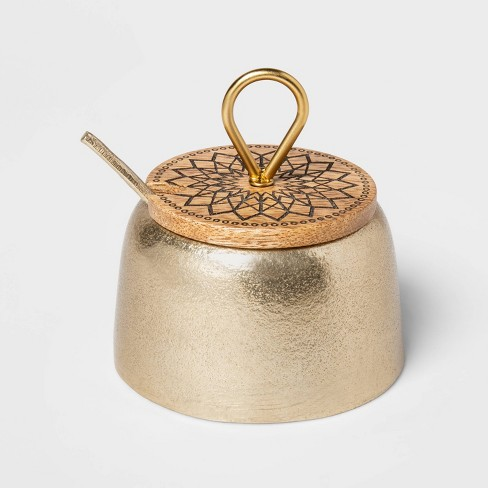 Cravings by Chrissy Teigen 7oz Salt Cellar with Wood Lid - image 1 of 2
