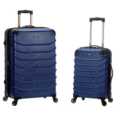 Rockland Special 2pc Expandable ABS Spinner Set - Blue
