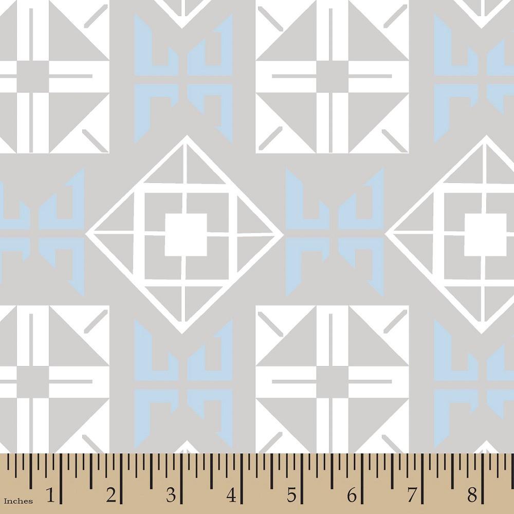 Image of Jack Mod Square Blue Minky Fabric