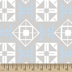 Jack Mod Square Blue Minky Fabric