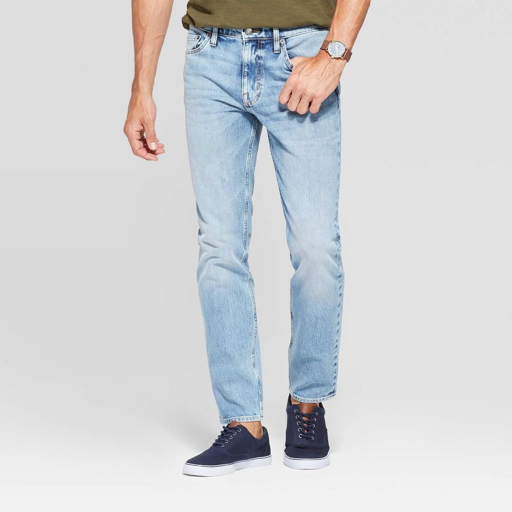Men 39 S Skinny Fit Jeans Goodfellow 38 Co 8482 Light Denim Wash 33x30