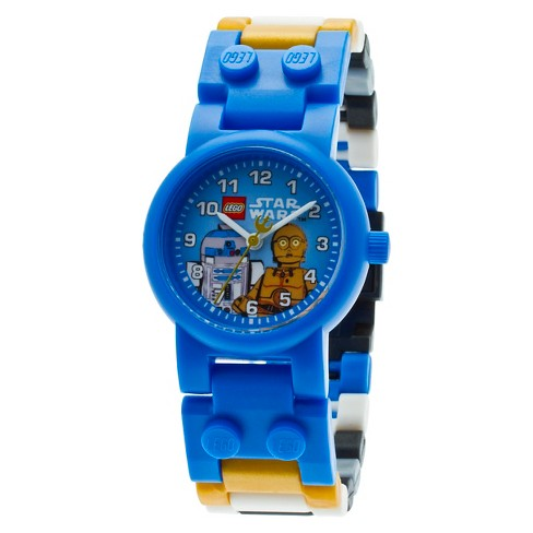LEGO®  Star Wars C3PO and R2D2 Kids Minifigures Interchangeable Links Watch - image 1 of 7