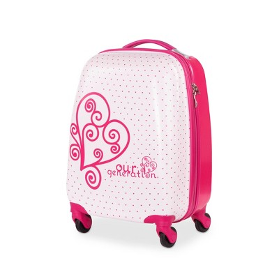 """Our Generation Rolling Luggage for Kids - Carry On Dreaming 16"""" Suitcase"""