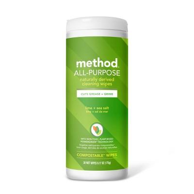 Method All Purpose Wipes Lime and Sea Salt - 30ct