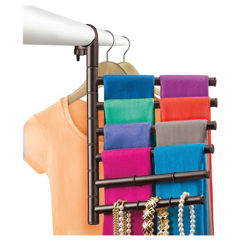 Lynk Hanging Pivoting Scarf Rack and Accessory Holder - Closet Hanger Organizer Rack - Bronze - image 1 of 4