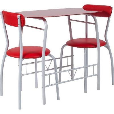 3pc Sutton Glass Bistro - Riverstone Furniture