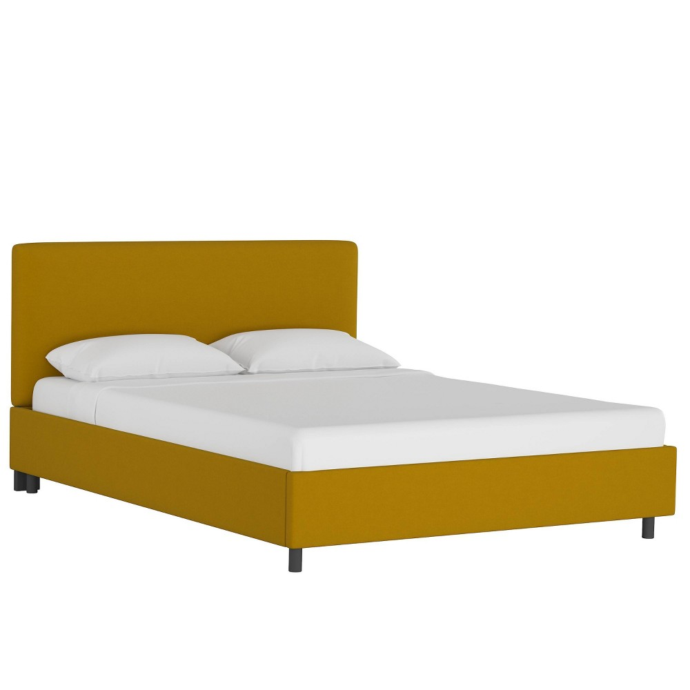 Queen Upholstered Platform Bed Monaco Citronella - Skyline Furniture