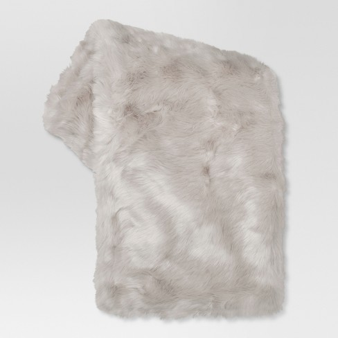 "Faux Fur Throw Blankets (50""x 60"") - Threshold™ - image 1 of 1"