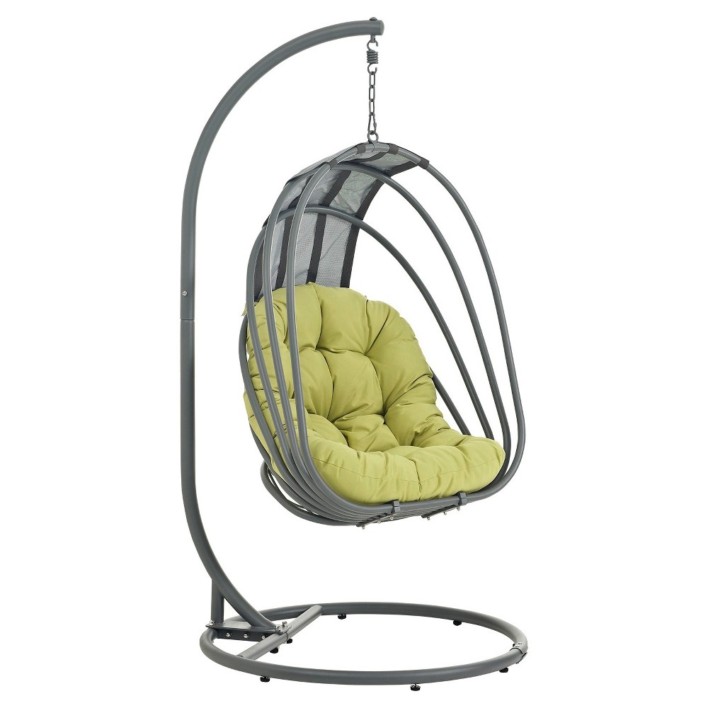 Whisk Outdoor Patio Swing Chair in Green - Modway