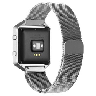 North Blaze Milanese Loop Fitness Monitor Strap - Silver