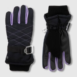 Girls' Solid Promo SKI Gloves - C9 Champion® Black/Lilac