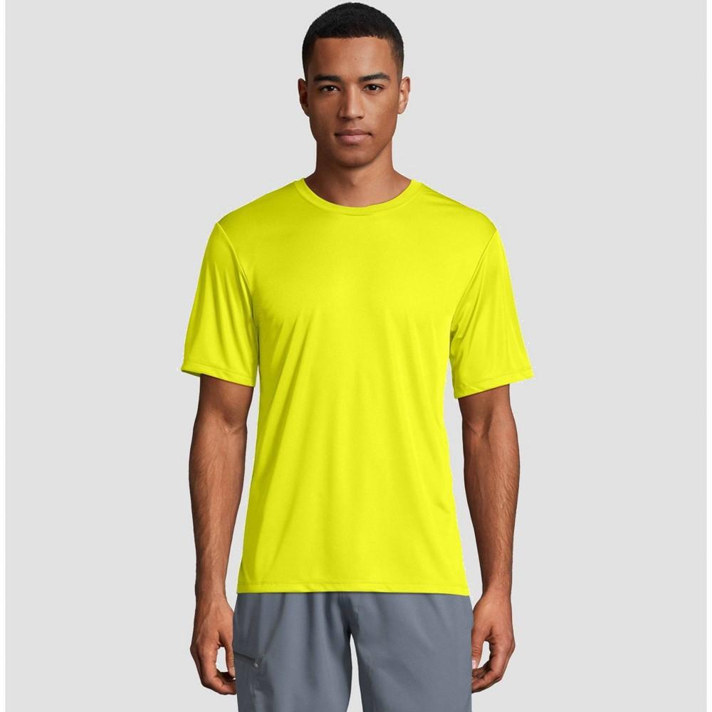 Hanes Men 39 S Cool Dri Performance Short Sleeve T Shirt Yellow L