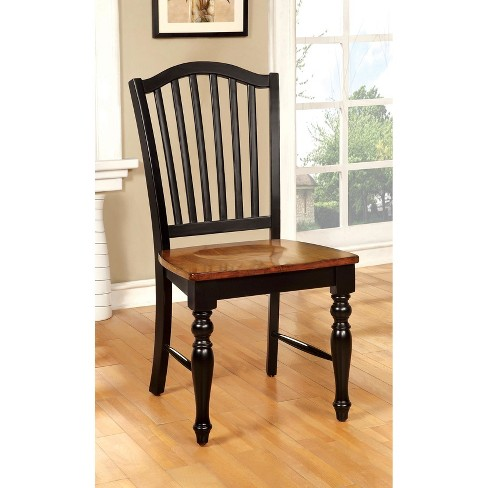 Sun & Pine Country Style Wooden Chair Wood/Black/Antique Oak (Set of 2) - Sun & Pine Country Style Wooden Chair Wood/Black... : Target