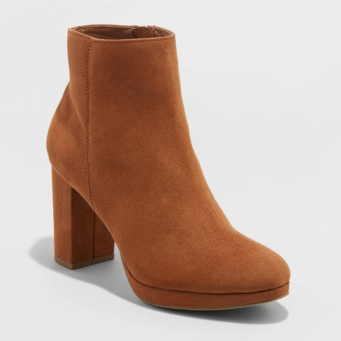 Women's Daisy Platform Ankle Bootie - A New Day™ - image 1 of 3