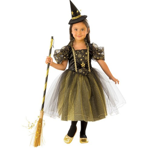Girls' Golden Star Witch Halloween Costume - Rubie's - image 1 of 1