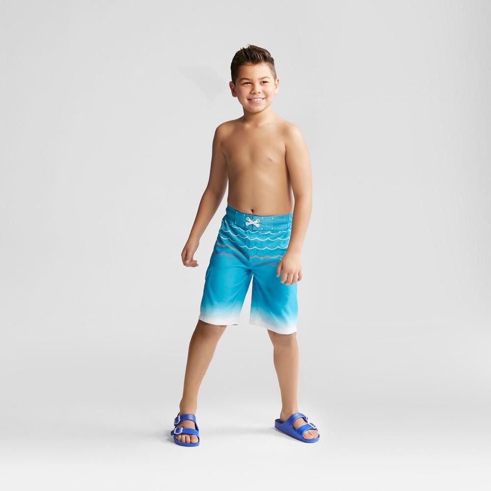 Boys' Wave Swim Trunks - Cat & Jack Blue S