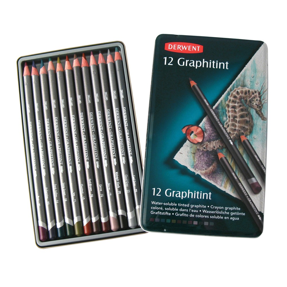 Image of Colored Pencil Set - Derwent Graphitint 12ct