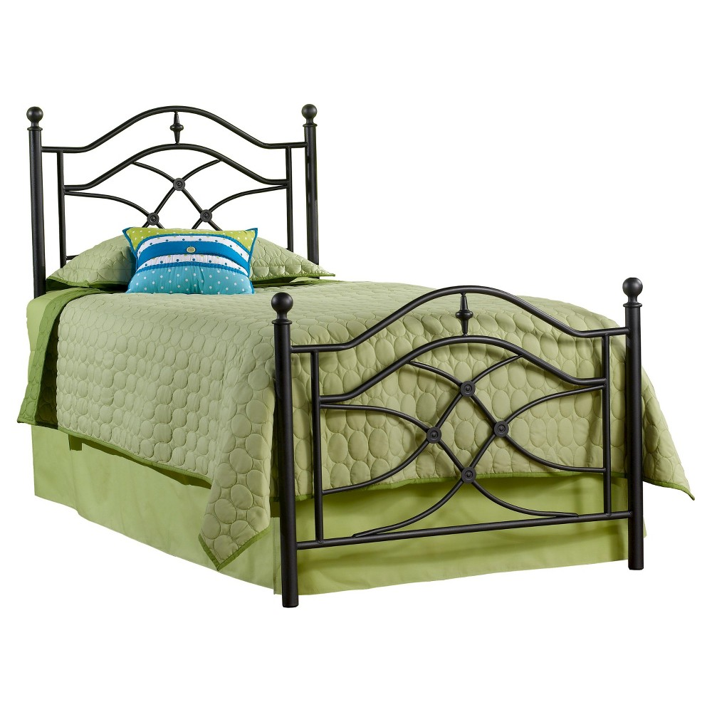 Cole Bed with Rails - Black(Twin) - Hillsdale Furniture, Grey