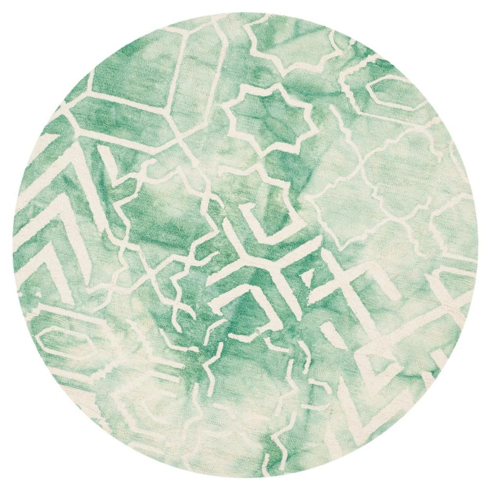 Jaycee Area Rug - Green/Ivory (5' Round) - Safavieh