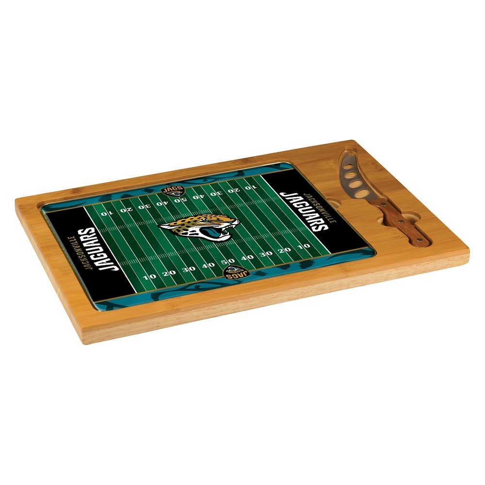 Jacksonville Jaguars - Icon Cutting Board/Tray and Knife Set by Picnic Time (Football Design)