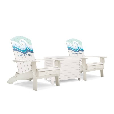 Adirondack 3pc Folding Chairs & Cooler Cream - Life is Good