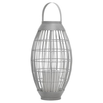 Indoor/Outdoor Battery Operated Candle Lantern Rattan - Sterno Home