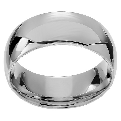 Men's Territory Stainless Steel Wedding-style Band - Silver - image 1 of 3