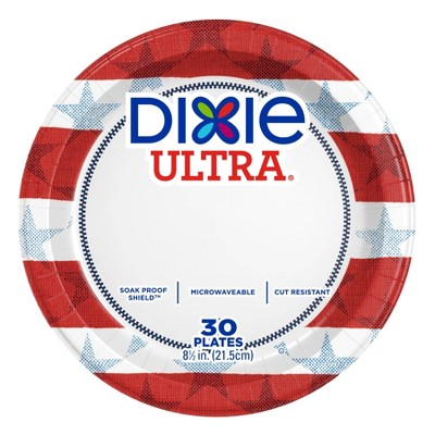 """Dixie Ultra Disposable Plates - 8.5"""" - 30ct"""